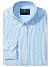 Men's Tailored Fit Pattern Non-Iron Dress Shirt (3 Collars Available)