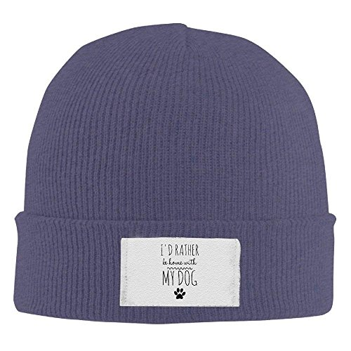 Navy Beanie I'D Funny Home My Knit Be Cool with Dog Cap Rather gTdPw5qn6