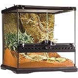 Exoterra Terrarium en Verre pour Reptiles et Amphibiens 30 x 30 x 30 cm