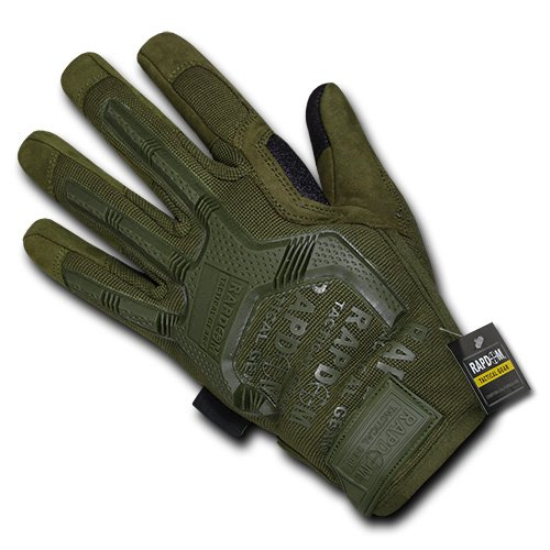 Rapdom Tactical Impact Protection Gloves, Olive Drab, X-Large by RAPDOM