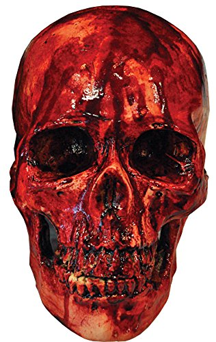 (Scary Haunted House Bloody Resin Skull Party Decoration Halloween Prop)