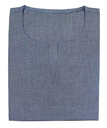 Mens coton lourd v cou classique kurta t-shirt à manches longues yoga