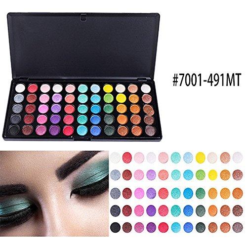 Lowpricenice DaySeventh 55 Color Shimmer Glitter Eye Shadow Powder Matt Eyeshadow Cosmetic Makeup ()