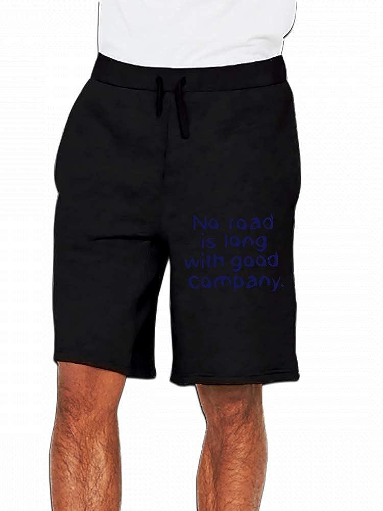 No Road is Long Mens Casual Shorts Pants