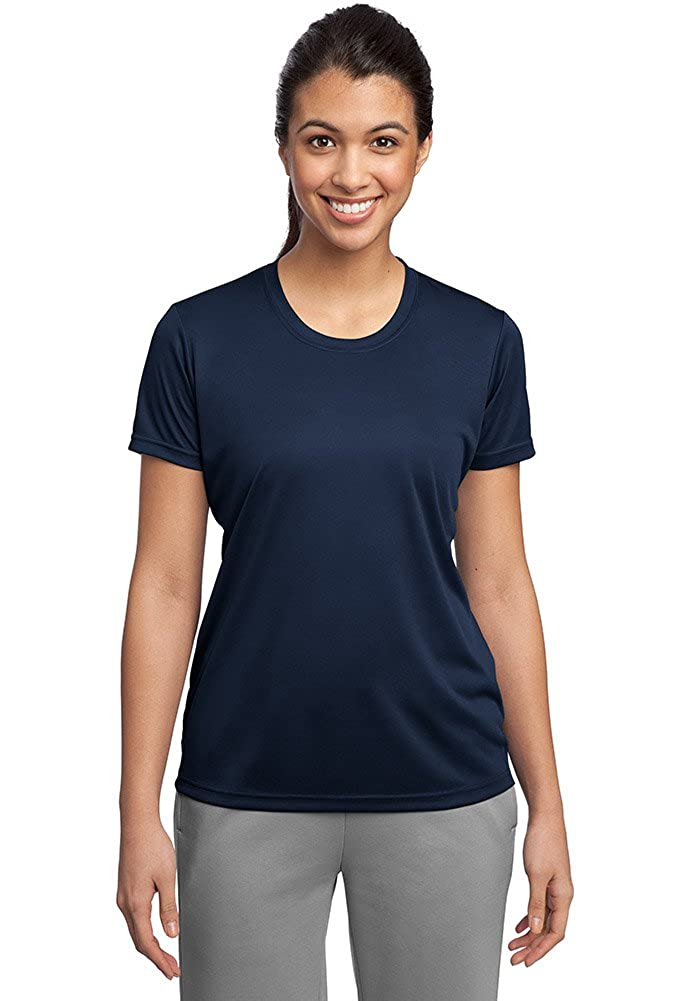True Navy DriWick Women's Sport Performance Moisture Wicking Athletic T Shirt