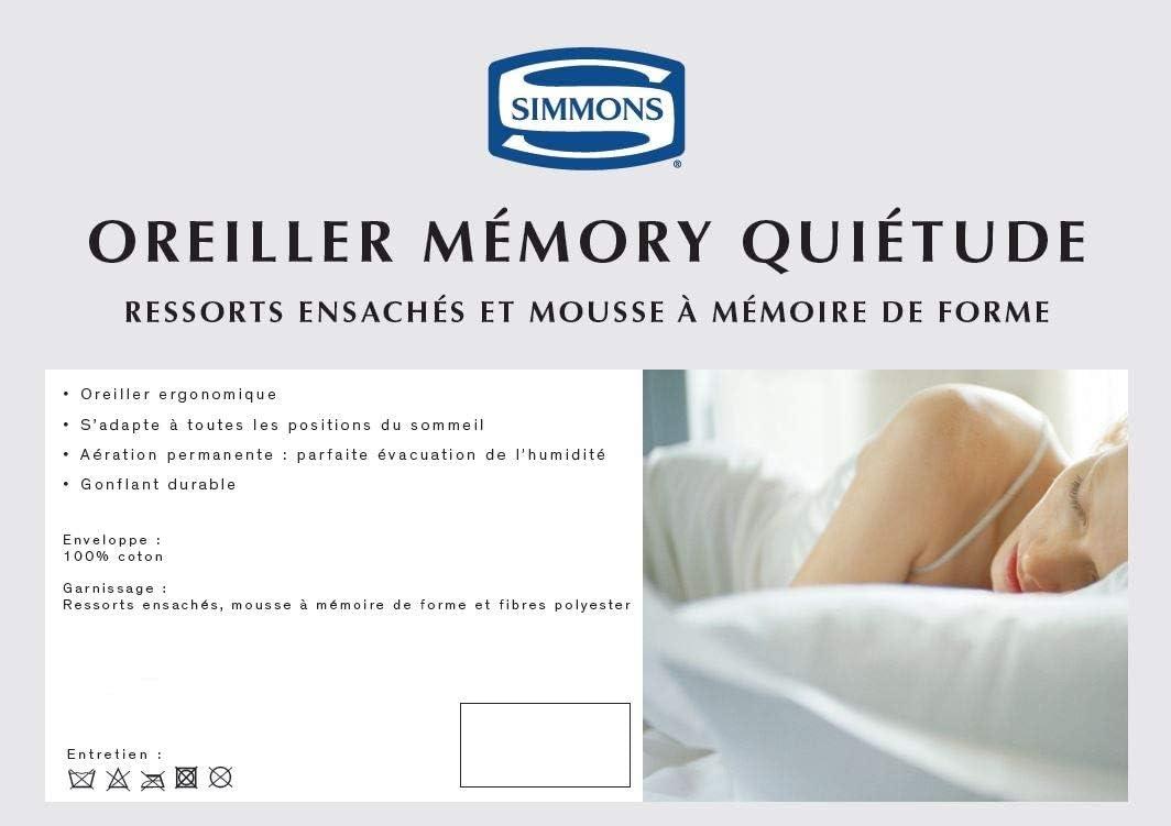 Simmons Oreiller Qui/étude