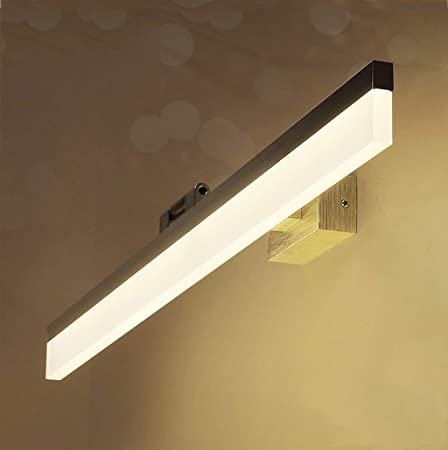 GWFVA Miroir LED Salle de Bains Miroir lumière Cabinet ...