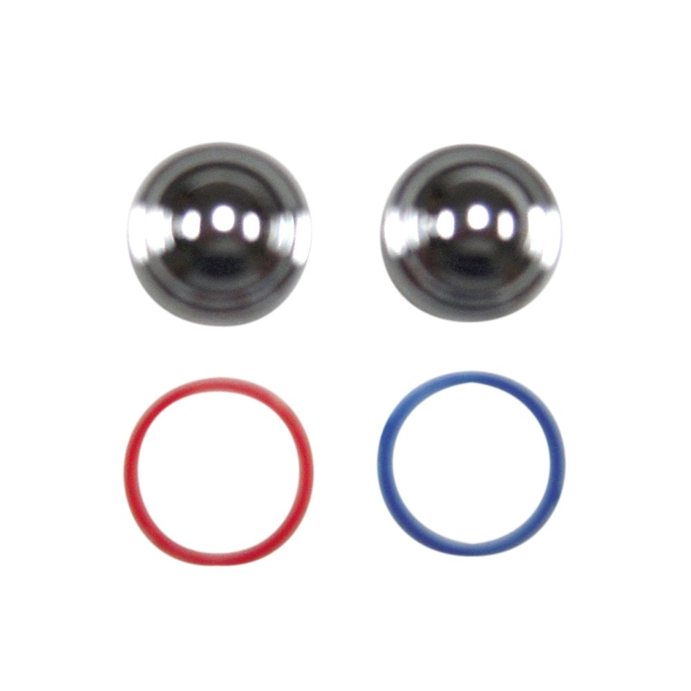 American Standard M962366-0020A Index Button with Hot and Cold Index Rings, Polished Chrome