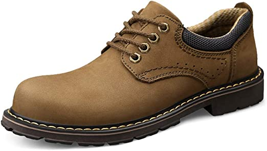 Mens Casual Simple Classic Round Toe Lace-up Outsole Height Formal Shoes Fashion Oxford