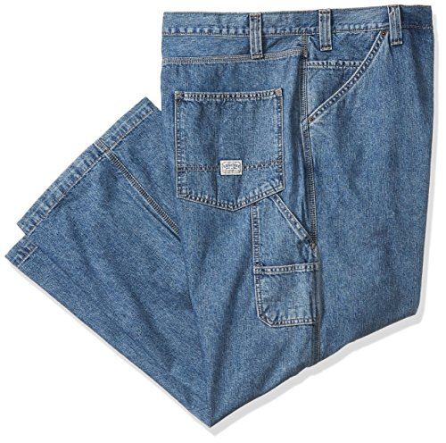 46 X 32 Pants (Signature by Levi Strauss & Co. Gold Label Men's Big and Tall Carpenter Jeans, Light Indigo, 46W x 32L)