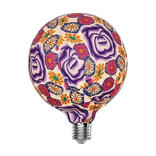 chollos oferta descuentos barato Hobaca LED 4W G125 φ 125mm Rosa Purpura Bombilla Decorativa Grande Bombillas Led Edison E27 Lamparas Decoracion Navidad 4W equivalente a 25W Blanco Cálido 2700K