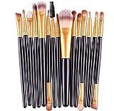 AOOK 15 Pieces Animal Makeup Brush Set Professional Face Eye Shadow Eyeliner Foundation Blush Lip Makeup Brushes Powder Liquid Cream Cosmetics Blending Brush Tool