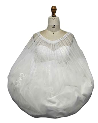 560f919c14ac Amazon.com: Simlehouse Women Gather Skirt Slip Prom/Party/Wedding Dress  Buddy Petticoat Underskirt Save You from Toilet Water White: Clothing