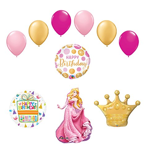 Sleeping Beauty Crown Princess Balloon Birthday Party Supplies and Decorations -