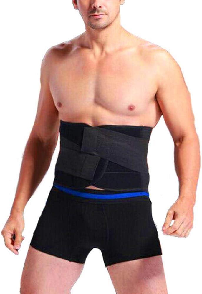 EBILUN Men Waist Trimmer Belt Elastic Adjustable Back Abdominal Waist Support Belt Body Shaper Weight Loss Corset Girdle Belt Premium Waist Wrap Trainer