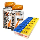 Axis Labs Ultimate Testosterone Stack Bundle - Hypertest XTR and Myodex - with Pill Box Organizer - Energy Enhancing - Vitality Boosting - Libido promoting - Estrogen Blocking - Testosterone Boosting