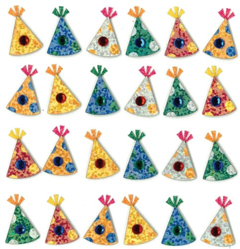 Jolee's Boutique Dimensional Stickers, Party Hats (Punch Party Hat)