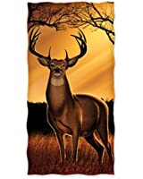 Whitetail Deer Cotton Beach Towel