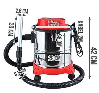 Kaminer - Aspiradora de Cenizas Aspirador de Cenizas Filtro Chimenea 20l 1200 w Filtro hepa Dual Filtro # 1162: Amazon.es: Industria, empresas y ciencia