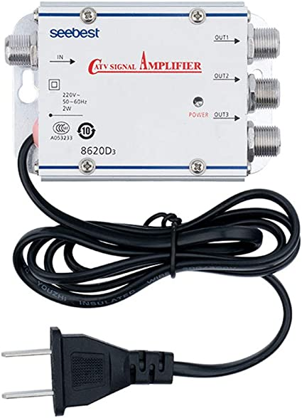 AMPLIFICATORE SDOPPIATORE SEGNALE TV VIDEO SEGNALE ANTENNA IN-OUT DA 1 A 4 CATV
