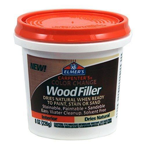 Elmer's E913 Carpenter's Color Change Wood Filler, 8-Ounce, Natural by Elmer's by Elmer's