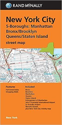 Folded Map New York City 5 Boroughs ManhattanBronxBrooklyn