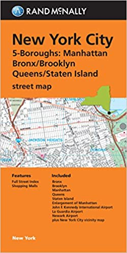 Rand McNally New York City 5 Boroughs, New York Street Map ...