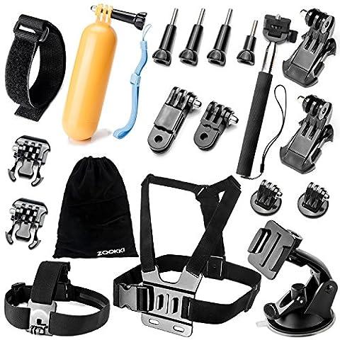 Zookki Accessories Kit for GoPro Hero 5 4 3+ 3