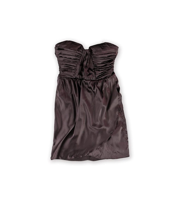 Bebe Womens Charmed Silk Strapless Dress