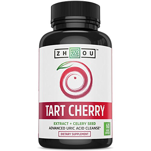 Naturally 60 Vegetable Capsules (Tart Cherry Extract Capsules with Celery Seed - Advanced Uric Acid Cleanse for Joint Comfort, Healthy Sleep Cycles and Muscle Recovery - Potent Polyphenols Supplement - 60 Veggie Capsules)
