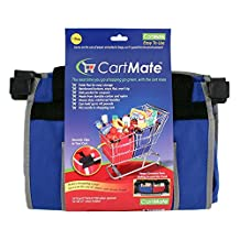 Cartmate - Reusable Grocery Shopping Bags for Cart -Saves on the use of paper and plastic bags, so it's good for the environment.- 2 packs(Blue Color)