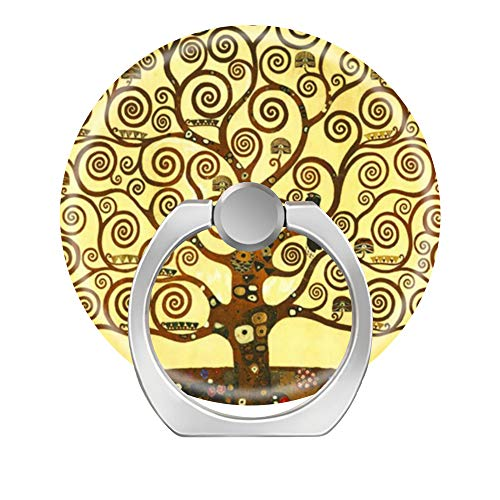 Cell Phone Ring Holder Cellphone Finger Stand 360 Degree Rotation Work for iPhone X 6 7 8 Plus S8 S9 Smartphone Ipad-Gustav Klimt Tree of Life ()