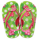 Stephen Joseph Little Girls'  Girls' Flip Flops, Turtle, Small