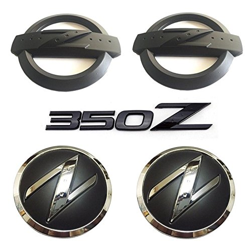 New REPLACEMENT Metal 350Z Badge Kits Car Body Front Rear Fender Black Emblems Badges Stickers for NISSAN 350Z Fairlady Z33 Emblems Badges 350z Body Kits