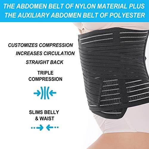 Waist Trimmer Belt-Postpartum Postnatal Recoery Support Girdle Belt and Waist Trainer for Postpartum Support and Weight Loss Post Pregnancy Belly Wrap Supports The Back to Relieve Back Pain 6