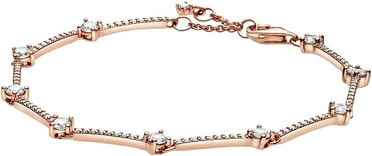 Pandora Rose 589217C01 Women's Bracelet with Sparkling Pave Stones White