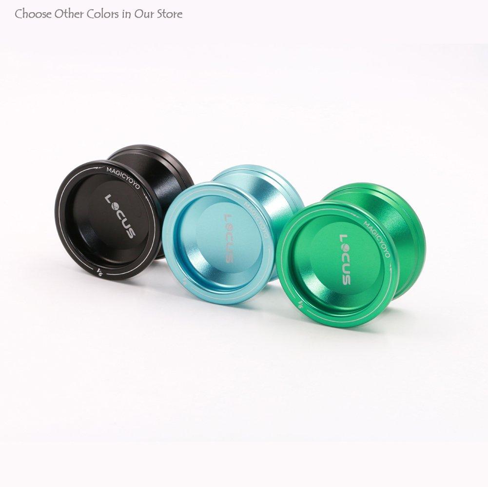Arancione /& verde Pro reattivo Yo-yo per Kid MAGIC YOYO V6 Locus Space metallo opaco Yo Yo con borsa per guanti 5 corde