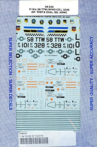 SuperScale Decals 1:48 F-16s 58 TTW Wing CO 3246 OP. Test & Eval SQ.ADWC - 58 Co