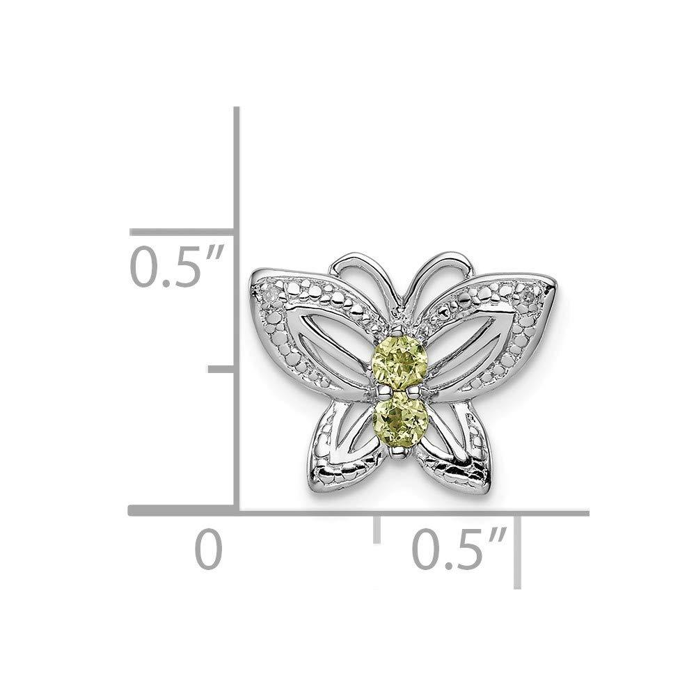 Sterling Silver Jewelry Pendants /& Charms Solid Peridot Diamond Pendant