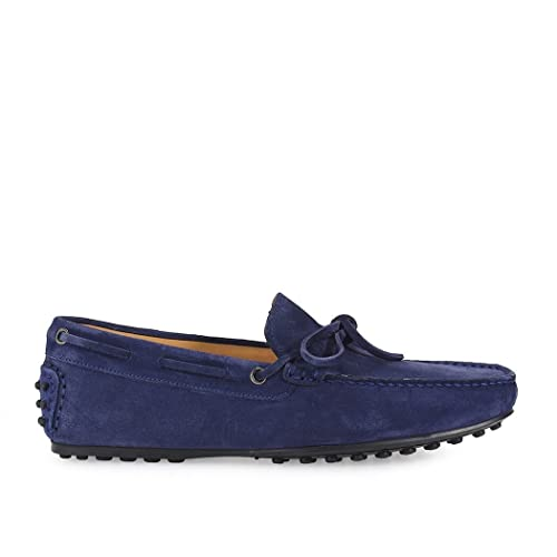 Men's 98021BLU Blue Suede Loafers