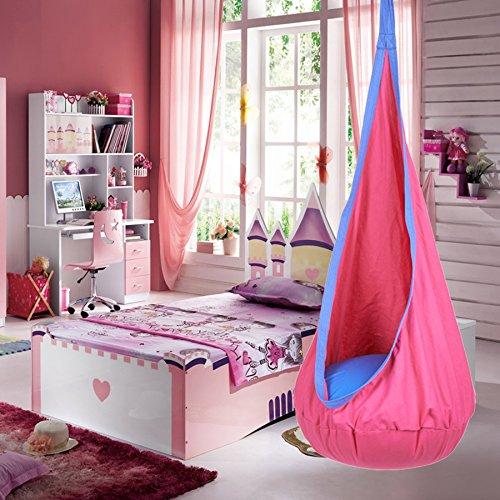 Pinty Indoor Outdoor Kid Child Hanging Chair Swing Seat Hammock Nook Tent (Kids Hanging)