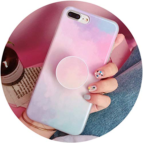 - Fashion Airbag Bracket Phone Case foriPhone X 8 7 6 6s Plus Cases Soft TPU Thin Phone Cover Starry Sky Patterned Shell,Pink,foriPhone 6 Plus
