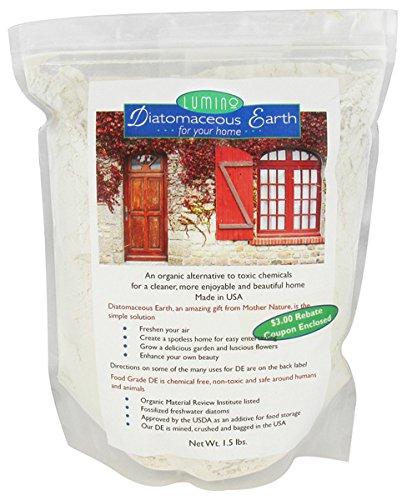 Food Grade Diatomaceous Earth for your Home Lumino Wellness 1.5 lb Powder