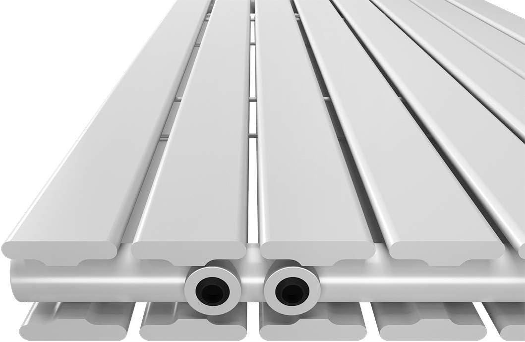 Wei/ß Design-Heizk/örper 630x850mm Vertikal Paneelheizk/örper Seitenanschluss Flach Einreihig Heizung