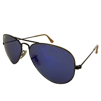 Ray-Ban Aviator Large Flash Cuivre/Bleu Miroité WJH2zrzJPL