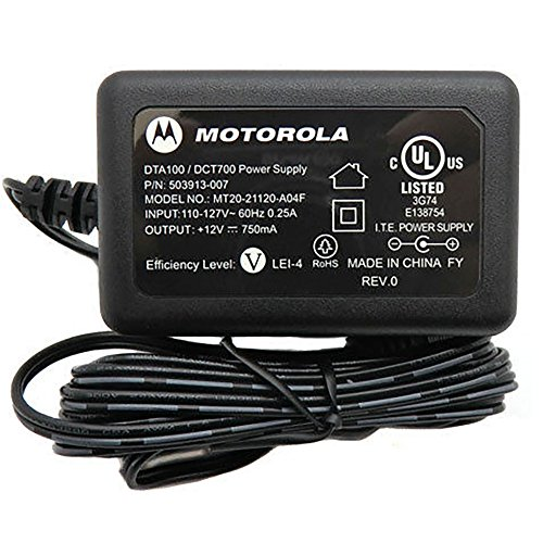 - Motorola DTA100/DCT700 Power Supply / AC Adapter (Model MT20-21120-A04F).