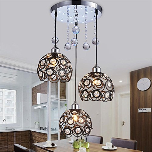 Pendant Lights Modern Crystal Chandelier Living Room cristal Decoration Three head Chandeliers Home Lighting Indoor Lamp Does not contain light source , 3 ()