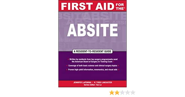 First Aid for the® ABSITE (First Aid Specialty Boards