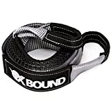 OxBound Premium Tow Strap - Heavy Duty Towing Recovery Strap : 3'' x 20' with 30,000 lb capacity (Gray)
