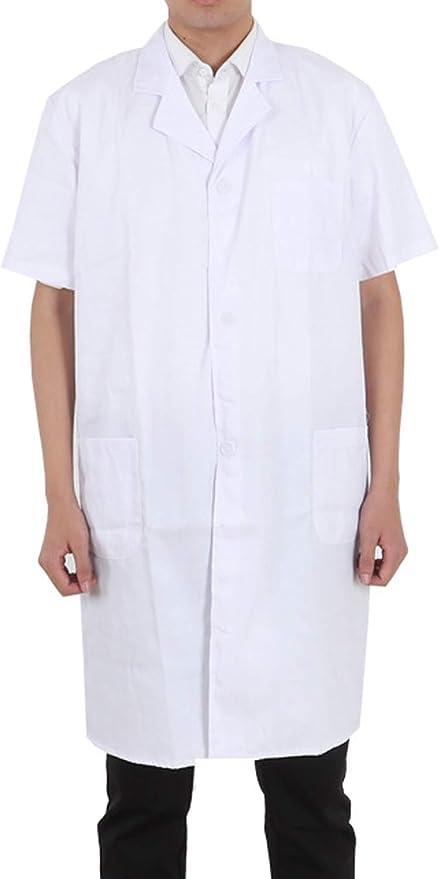 Amazon.com: Pinkpum Lab Coat Professional Uniforms, Unisex White: Clothing